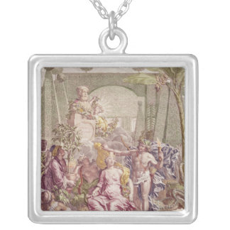Frontispiece of 'Hortus Cliffortianus' by Carl Square Pendant Necklace