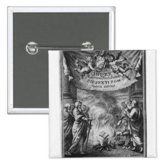 Frontispiece of 'Index Librorum Prohibitorum' Button