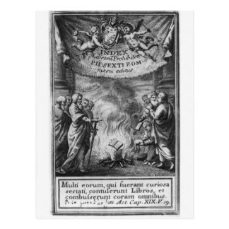 Frontispiece of 'Index Librorum Prohibitorum' Postcard