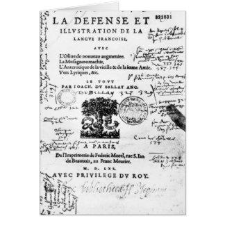 Frontispiece of 'La Defense et Illustration Card