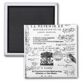 Frontispiece of 'La Defense et Illustration Magnet