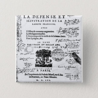Frontispiece of 'La Defense et Illustration Pinback Button