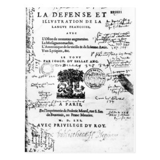 Frontispiece of 'La Defense et Illustration Postcard