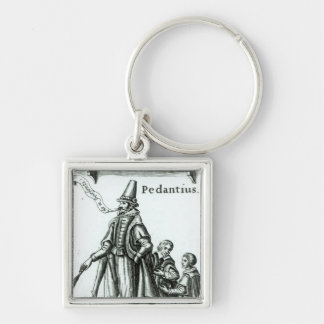 Frontispiece of 'Pedantius' Silver-Colored Square Keychain