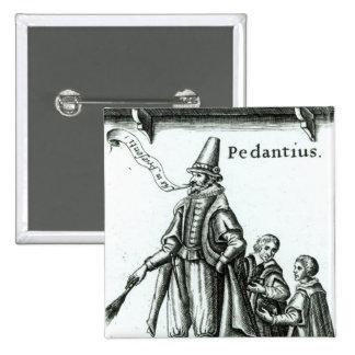Frontispiece of 'Pedantius' Pinback Button