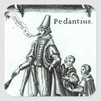 Frontispiece of 'Pedantius' Square Sticker