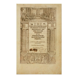 Frontispiece of 'The Book of Common Prayer' Poster
