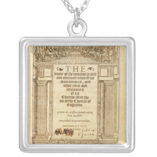 Frontispiece of 'The Book of Common Prayer' Square Pendant Necklace