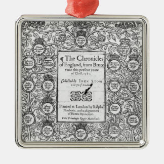 Frontispiece of 'The Chronicles of England' Metal Ornament