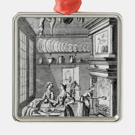 Frontispiece of 'The Compleat Housewife' Metal Ornament