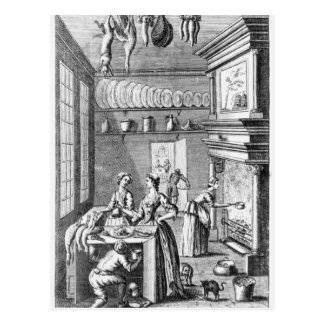 Frontispiece of 'The Compleat Housewife' Postcard