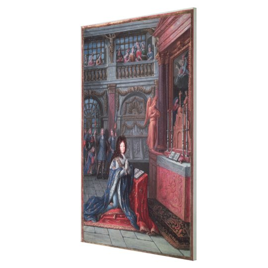 Frontispiece of the 'Hours of Louis Canvas Print