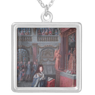 Frontispiece of the 'Hours of Louis Square Pendant Necklace