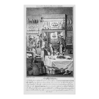 Frontispiece of 'The Housekeeper's Instructor' Poster