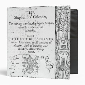 Frontispiece of 'The Shepeards Calender' 3 Ring Binder