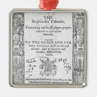 Frontispiece of 'The Shepeards Calender' Metal Ornament