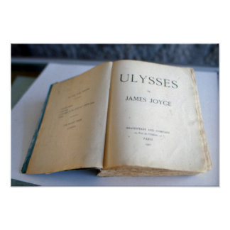 Frontispiece of 'Ulysses' by James Joyce Poster