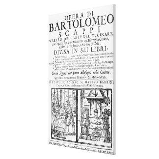 Frontispiece para cocinar el libro de Bartolomé Sc Impresión En Lienzo