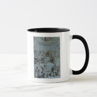 Frontispiece para los trabajos de impresión reales taza