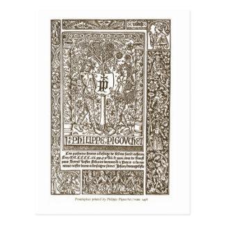 Frontispiece, Paris, 1498 Postcard