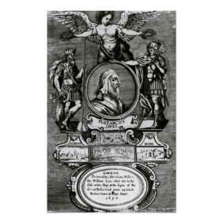 Frontispiece   'Plutarch's Lives' by Plutarch Poster