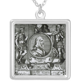 Frontispiece   'Plutarch's Lives' by Plutarch Silver Plated Necklace