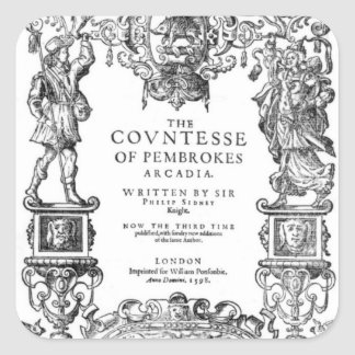 Frontispiece 'The Countess of Pembroke's Square Sticker
