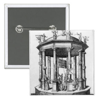 Frontispiece 'The Rudolphine Tables' Pinback Button