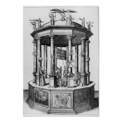 Frontispiece 'The Rudolphine Tables' Print