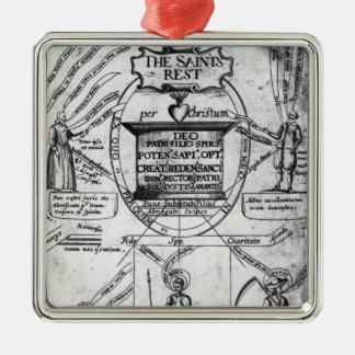 Frontispiece,  'The Saints Everlasting Rest' Metal Ornament
