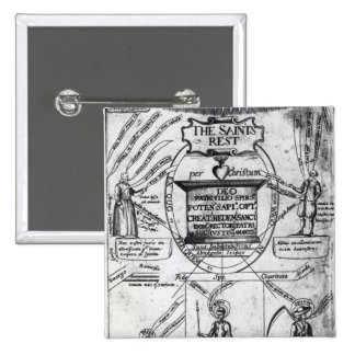 Frontispiece,  'The Saints Everlasting Rest' Pinback Button