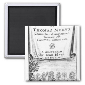 Frontispiece, 'The Utopia of Thomas More' 2 Inch Square Magnet