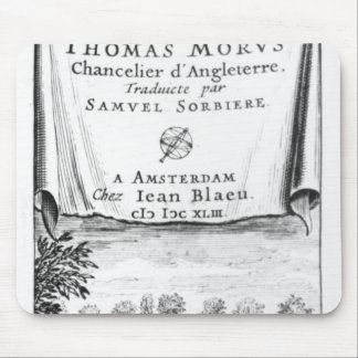 Frontispiece, 'The Utopia of Thomas More' Mouse Pad