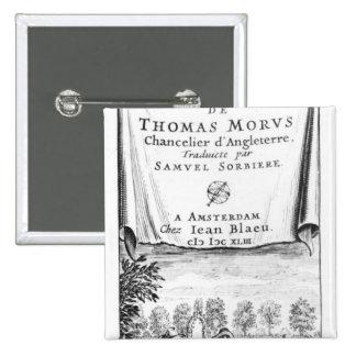 Frontispiece, 'The Utopia of Thomas More' Pinback Button