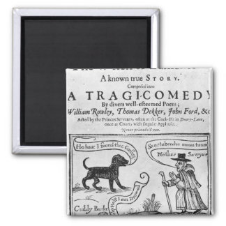 """Frontispiece  """"The Witch of Edmonton 2 Inch Square Magnet"""