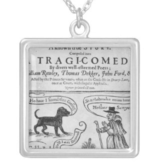 """Frontispiece  """"The Witch of Edmonton Square Pendant Necklace"""