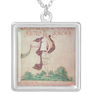 Frontispiece to 'A Little Book of Love' Square Pendant Necklace