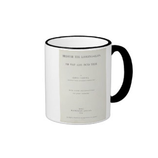Frontispiece to 'Alice Through the Looking-Glass' Ringer Mug