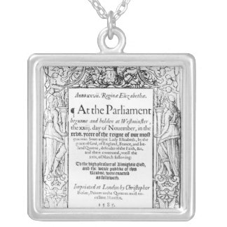 Frontispiece to an account of parliament silver plated necklace