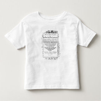 Frontispiece to an account of parliament tee shirt