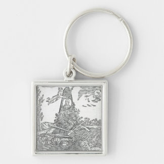 Frontispiece to an agricultural almanach keychain