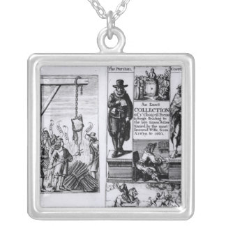 Frontispiece to 'An Exact Collection of Square Pendant Necklace