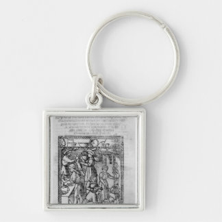 Frontispiece to an Italian cook book Keychain