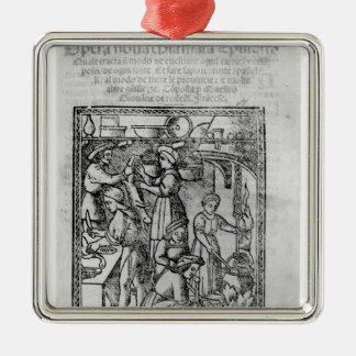 Frontispiece to an Italian cook book Metal Ornament