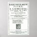 Frontispiece to 'Bartholomew Fair' Poster