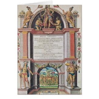Frontispiece to 'Brevis Narratio' Card