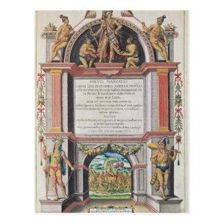Frontispiece to 'Brevis Narratio' Postcard