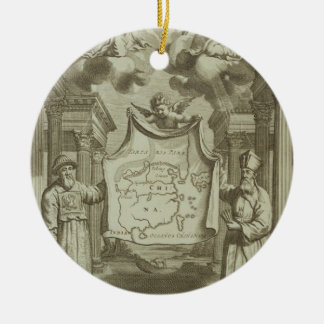 Frontispiece to 'China Illustrated' by Athanasius Ceramic Ornament