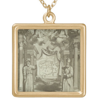 Frontispiece to 'China Illustrated' by Athanasius Gold Plated Necklace