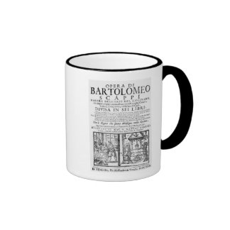 Frontispiece to cook book of Bartolomeo Scappi Ringer Mug